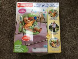 Baby swing chair - Fisher Price Rainforest open top take-along swing