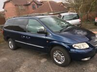 7 seater Chrysler grand voyager limited xs diesel new mot