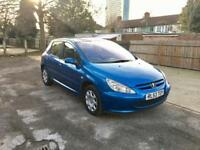 2004 PEUGEOT 307 1.4 – 5 DOOR, PETROL, HATCHBACK, MANUAL, LONG MOT AND TAXED