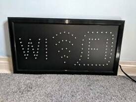 Wifi light up sign