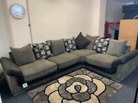 Pending Grey & Black Harvey's corner sofa delivery 🚚 sofa suite couch furniture