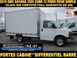 2015 GMC Savana 3500 CUBE 12 PIEDS 35.000 KM IMPECCABLE