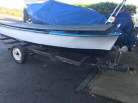 Row Boat with Trailer