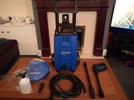Nilfisk C120 Pressure washer and patio cleaner as new.