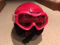 Child Ski Helmet & Goggles