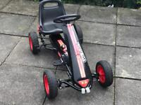 Black and Red Pedal Go Kart