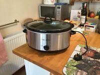 Slow Cooker Crockpot Stoneware 6.5L