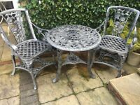 Patio set bistro table and chairs vintage style