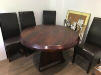 Solid wood dining table - price negotiable