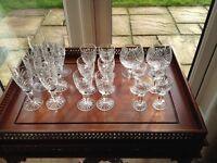 Edinburgh crystal glasses.