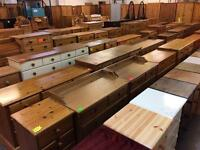 Quality used solid wood / pine chest of draws