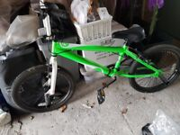 Nearly new boys bike for sale complete with helmet