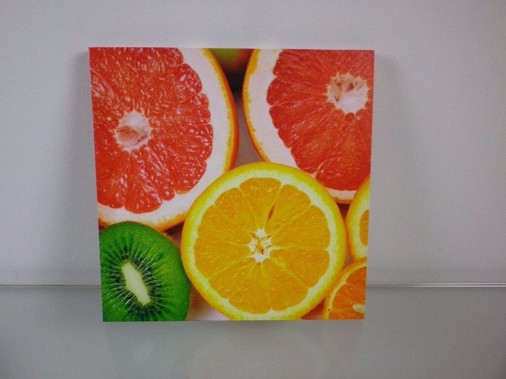 Canvas print fruits photography picture, Kitchen Living wall decor ...