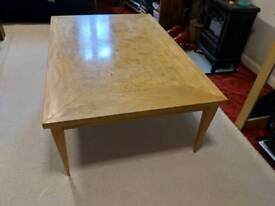 Polished pine coffee table