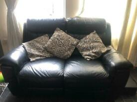 Pure leather dfs 2 seater sofa