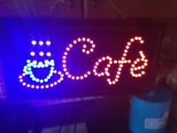 Electric cafe sign