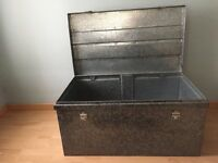very good excellent condition stainless steel storage trunk container box