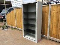 Tall Bisley grey tambour unit