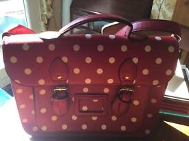 Red & white spot satchel