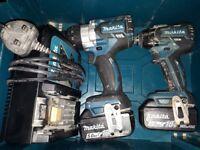 Makita twin drill set (brushless)