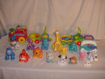 FISHER PRICE AMAZING ANIMALS SING AND GO CHOO CHOO TRAIN + 15 ANIMALS MORE