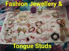 Fashion Jewellery & Tongue studs