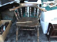 CAPTIANS CHAIR MADE OF FRUITWOOD IS IN GOOD CONDITION & COMFORTABLE ONLY £65