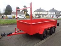 ALL STEEL TRAILER 8ft x 4ft == EXCELLENT CONDITION ==£600 NO OFFERS.