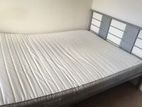 Like new Ikea double bed and frame (before Nov. 22)- has been reserved
