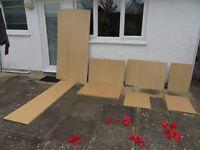 Ikea furniture back panels in birch / beech finish
