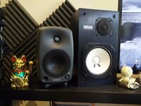 Genelec 8030A Active Studio Monitors (pair) w. Free Stands! [A1 CONDITION]