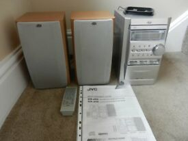 ORIGINAL JVC MINI CD SYSTEM & SPEAKERS