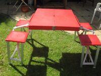 Picnic Table Folds Flat Seats Four. Bargain