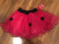Girls pink spot tutu, BNWT, age 6-10