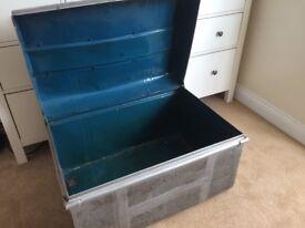 Old metal vintage storage /table /chest