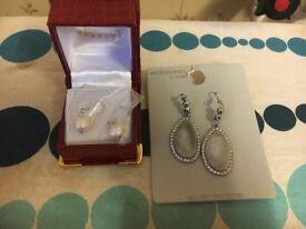 2 pairs of earrings unused unwanted gifts