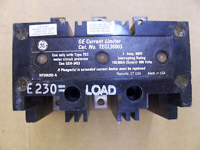 Ge General Electric Current Limiter Tecl 36003 3 Amp