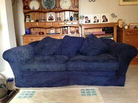 Navy Blue 3 Seater Sofa