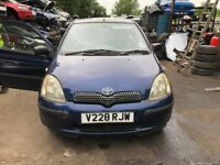 1999 Toyota Yaris Gls 3dr 1.0 Petrol Blue BREAKING FOR SPARES