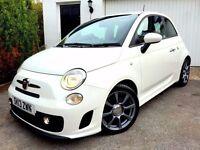 **VERY LOW MILES** 2013 FIAT 500 ABARTH WHITE 1.4 TURBO PETROL 5 SPEED MANUAL 3 DOOR HATCHBACK SPORT