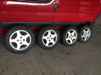 peugeot 206 alloy wheels x 4 with tyres 175 65 R14