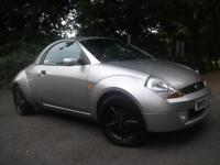 FORD STREETKA 1.6i Winter Edition 2dr ROOF OFF LEATHER INTERIOR 3 MONTHS WARRANTY (silver) 2005