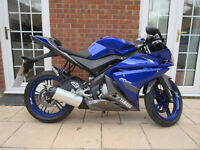 Yamaha YZF R125 2014 Motorcycle *Learner Legal*Low Mileage*Great Condition*HPI Clear*Alarm Fitted*