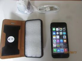 iphone 5 -64GB Unlocked smartphone Very Good condition with leather case