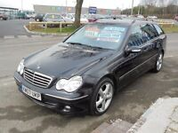 MERCEDES C180 KOMPRESSOR AVANTGARDE SE AUTO 5 DOOR ESTATE 2007-07,LOOK ONLY 45K FULL SERVICE HISTORY