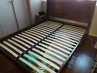 King-size solid wood bed
