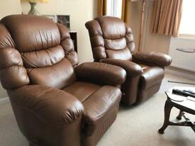 Lazyboy reclining armchairs