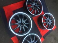 ALLOY WHEELS X 4 AS NEW IN ANTRACITE X 17 INCH OFFSET 35 FIT PEUGEOT OR FORD