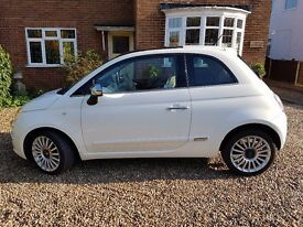 Fiat 500 Twinair Lounge, excellent condition, £0 Tax, many extras