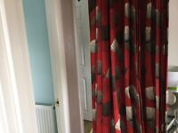 John Lewis 157cm drop curtains pure cotton Immaculate